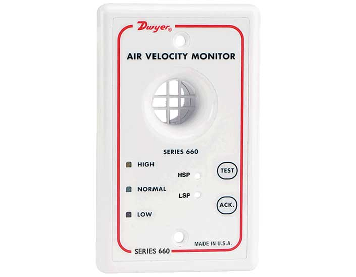Dwyer Instruments Model 660 Air Velocity Monitor